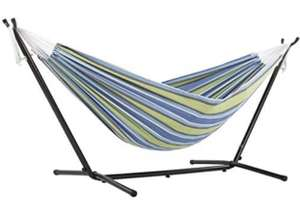 Vivere, Oasis Double Cotton Hammock with Space-Saving Steel Stand including carrying bag £59.11 delivered @ Amazon