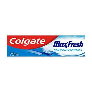 Colgate Max Fresh Cooling Crystals Toothpaste 75 ml, Teeth Whitening Toothpaste, Cool Mint, Pack of 1 - £1.00 (+£4.49 Non Prime) @ Amazon
