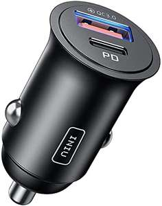 INIU Car Charger, Total-60W 5A PD QC Fast Charging USB A+USB C - £7.99 Prime (+ £4.49 Non Prime) Sold by INIU Technology LLC and FBA