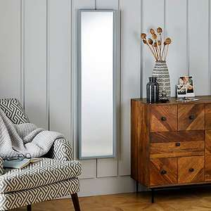 Essentials Full Length Mirror 122x32cm Grey or White - £8.00 (With free click and collect in Selected Stores ) @ Dunelm