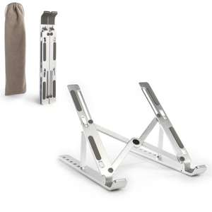 Portable Laptop & Tablet Stand - Folds Up - Silver Colour Only - £6.49 Delivered @ eBay / roovcouk