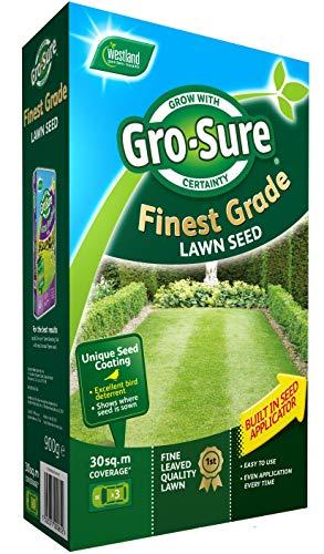 Gro-Sure Finest Lawn Seed, 30 m2, 900g - £5 (+£4.49 Non Prime) delivered @ Amazon