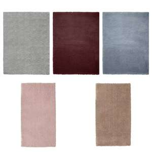 Argos Home Cosy Rug - 170x120cm - Dove Grey / Berry / Blush / Blue / Natural - £30.00 ( with free click and collect ) @ Argos