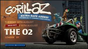 Free Gorillaz Gig for NHS workers and their families at The O2