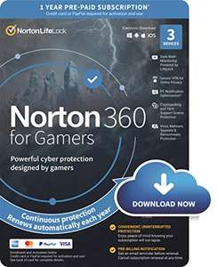 Norton 360 for Gamers 2021, Antivirus software 3 Devices & 1-year subscription £17.99 Amazon Prime (+£2.99 Non Prime)
