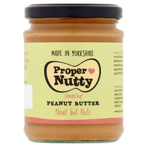 Proper Nutty Nowt But Nuts Peanut Butter £1.49 clubcard price @ Tesco