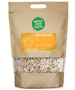 Wholefood Earth Sunflower Seeds - GMO Free, 3 Kg- £7.41 ( +£4.49 NP) In stock on August 23, 2021 @ Amazon.
