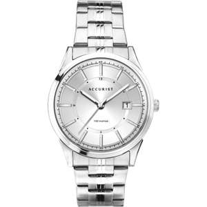 Accurist Date Men's Stainless Steel Bracelet Watch £26.39 delivered with code @ H Samuel