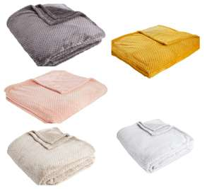 Wilko Waffle Throw 200 x 240cm - Charcoal / Silver/ Mink / Ochre / Blush Colour - £8.00 ( Instore / Delivery £5.00 ) @ Wilko