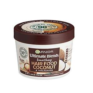 Garnier Ultimate Blends Hair Food Coconut 3-in-1, Smoothing Hair Mask, Leave-in Conditioner for Curly, 390 ml - £3.49 (+£4.49 NP) @ Amazon