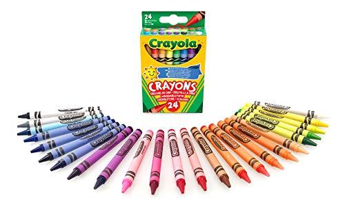 CRAYOLA 12 Assorted Colouring Crayons Multicoloured, 24 pk - 90p (+£4.49 Non-Prime) @ Amazon