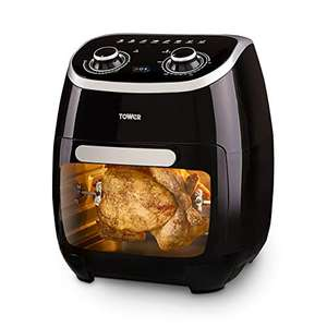 Tower T17038 Manual Air Fryer Oven, 11 Litre, 80-200 Degrees with 60 Minute Timer, Healthy Rotisserie Function - £63. 59 Delivered @ Amazon