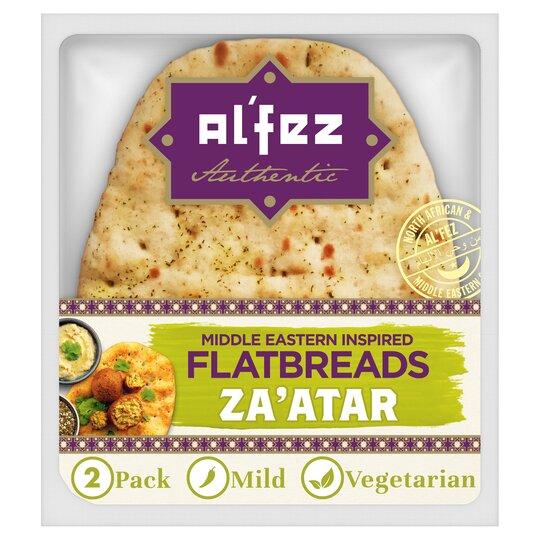 Al'fez Middle Eastern Za'atar Flatbreads 2 Pack (Clubcard Price) £1.39 @ Tesco