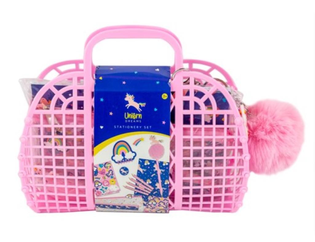 Unicorn Jelly Bag with novelty stationery £7.50 Clubcard price @ Tesco
