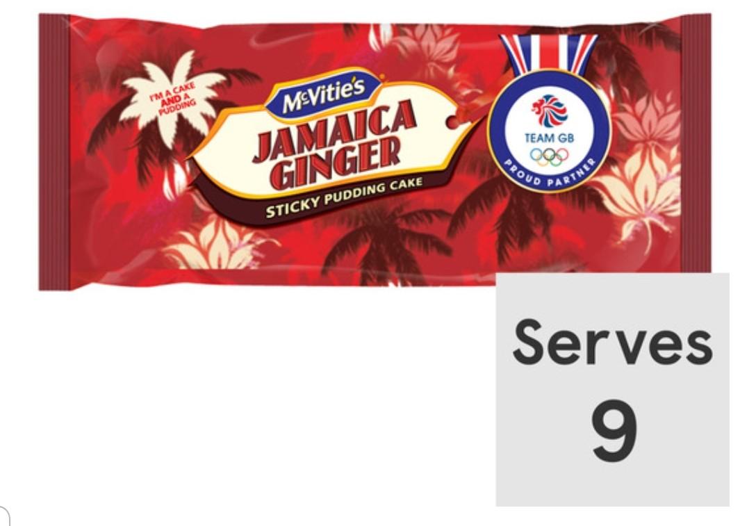 Mcvities Jamaica Ginger Cake,Original Lyle's Golden Syrup Cake Each 64p Clubcard price @ Tesco