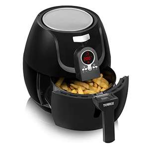 Tower Low Fat Rapid Air Fryer with Digital Timer, 1400 W, 3.2 L - Black £44.42 Delivered @ Amazon