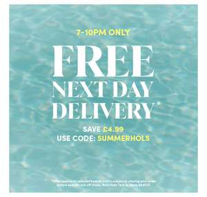 7-10pm only! FREE next day delivery with code @ Debenhams