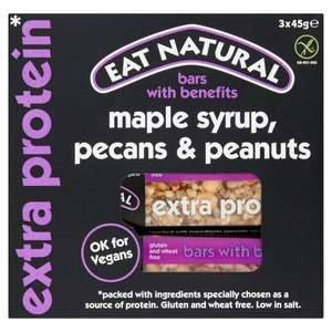Eat Natural Bars Maple Syrup Pecan & Peanut 45G £1.50 (Clubcard Price) @ Tesco