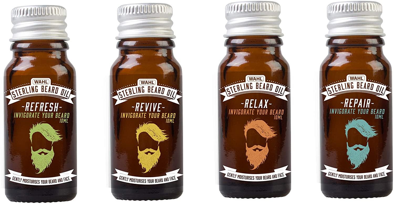 Wahl Beard Oil Gift Set 4 X 10 ml Fragrances, Gifts for Men £6.51 (+£4.49 Non-Prime) @ Amazon