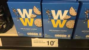 Weight Watchers Salt + Pepper Crackers - 4 Pack 10p Dated End Of Dec 2021 @ Farmfoods (Belle Vale)