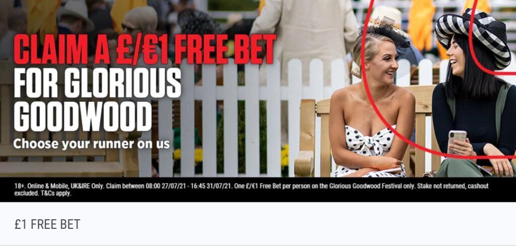 Enjoy a £/€1 Free Bet at Goodwood (Selected Accounts) @ Ladbrokes