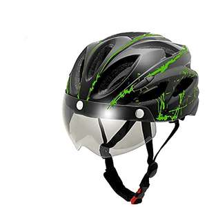 Bicycle Helmet, Adult Man Bike Helmet with Detachable Visor Goggles £6.80 Prime (+£2.99 Non Prime) Sold by HEY.UONE and Fulfilled by Amazon