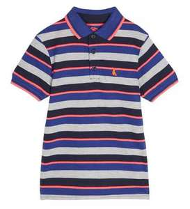 Blue Zoo Boys Striped Polo Shirt 5-13 years £2.40 delivered with code @ Debenhams