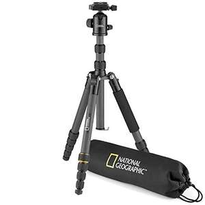 National Geographic Travel Photo Tripod Kit with Monopod, Carbon Fibre, 5-Section Legs, Twist Locks, Load up 8 kg £43.99 at Amazon