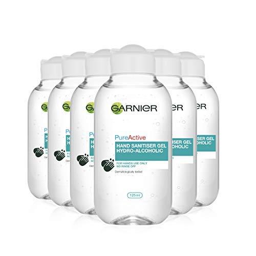 Garnier Pure Active Hydro-Alcoholic Hand Sanitiser Gel, 125ml (Pack of Six 6) £3 (+£4.49 Non Prime) @ Amazon