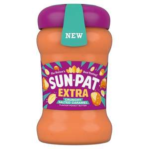 Sun-Pat Extra Crunchy Salted Caramel Peanut Butter £2.50 / Free with code (Delivery / Minimum charge applies / Online only) at Tesco