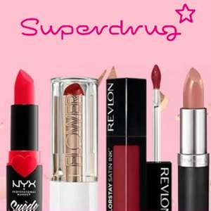 Treat Thursday Members only buy 1 get 1 free on Lipsticks The Beauty, Collection, I heart Revelation + Free Click and collect @ Superdrug