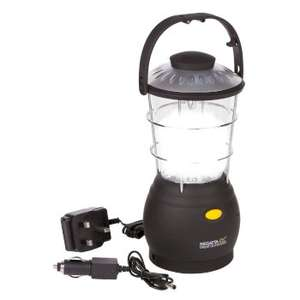 Helia 12 LED Dynamo Lantern Camping Lamp with Built-in Rechargeable Battery - Black £7.64 using code @ hawkshead