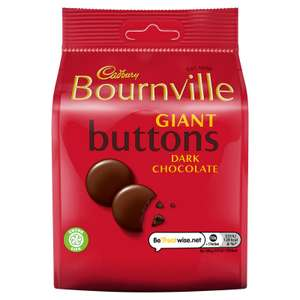 Bournville Giant Button 95g (BB 11/08/2021) - 29p instore @ Farmfoods, Hawick