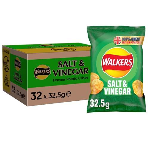 Walkers Salt & Vinegar Crisps 32.5g (Box of 32) - £7.25 (+£4.49 NonPrime) @ Amazon