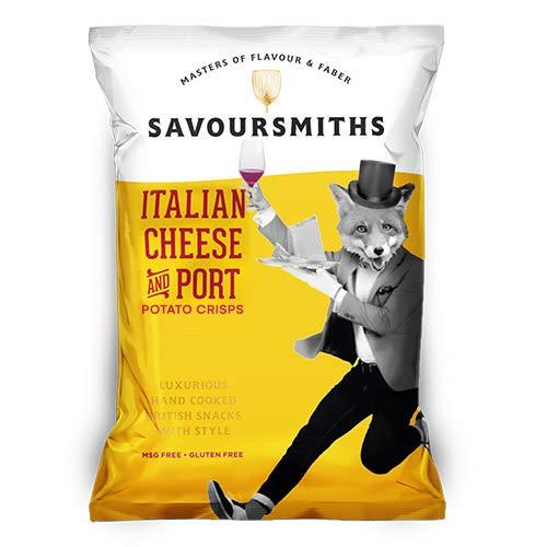 SAVOURSMITHS Italian Cheese & Port Crisps, 12 X 150 G - £8.79 (+£4.49 nonPrime) Amazon
