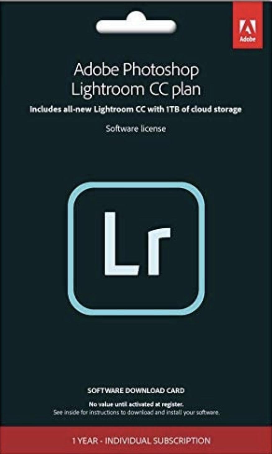 Adobe Lightroom CC 1TB - 1 year subscription £32.42 Amazon