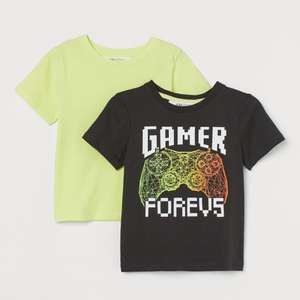 2-pack Kids Cotton T-shirts £4 Delivered (Members - Free Signup) @ H&M