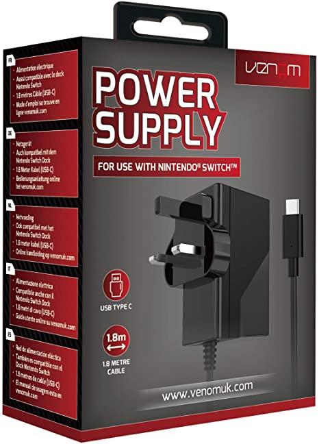 Venom Nintendo Switch Power Supply- £3.75 / Stealth Nintendo Carry Case - £1 @ ASDA Worcester