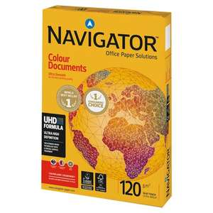 Navigator A4 paper 120gsm Colour Document Paper 250 Sheets £4 each or 2 for £6 (£5 delivery) @ Wilko