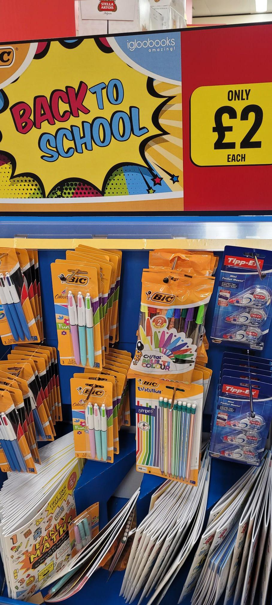 BiC 4 colours pens instore - £2 @ Iceland (Luton)