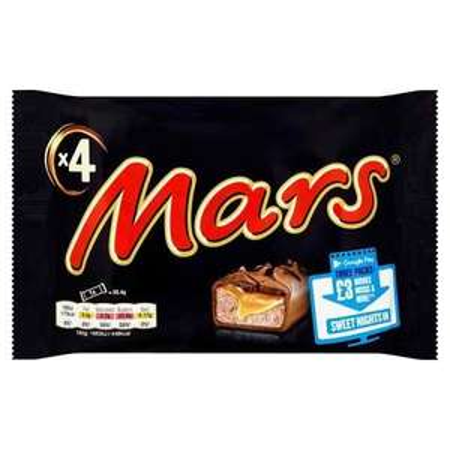 Mars Chocolate Bars 4pk 69p @ Farmfoods (Belle Vale)
