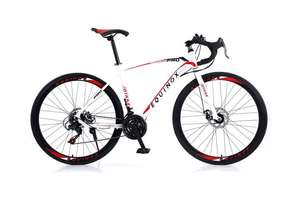 Equinox Road Racer Bike - Black or White for £198.99 with Code @ Woucher