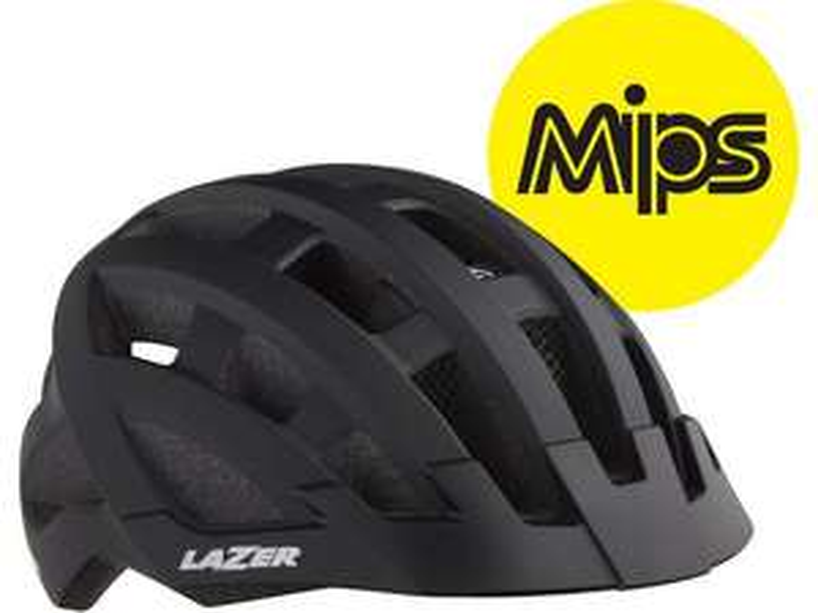 Lazer Compact DLX MIPS Helmet Black Adult (Black) +free £5 voucher (new accounts) - £25 (free click & collect) @ Halfords