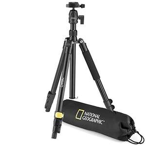 National Geographic Travel Photo Tripod Kit with Monopod, Aluminium, 4-Section Legs, Lever Locks, Load 6 kg, Carrying Bag - £21.99 @ Amazon