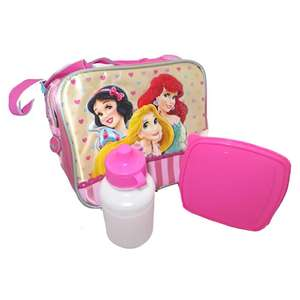 Disney Princess Sambro Lunch Bag with Water Bottle and Sandwich Box - £4.97 Delivered Using Code @ TopToys2U