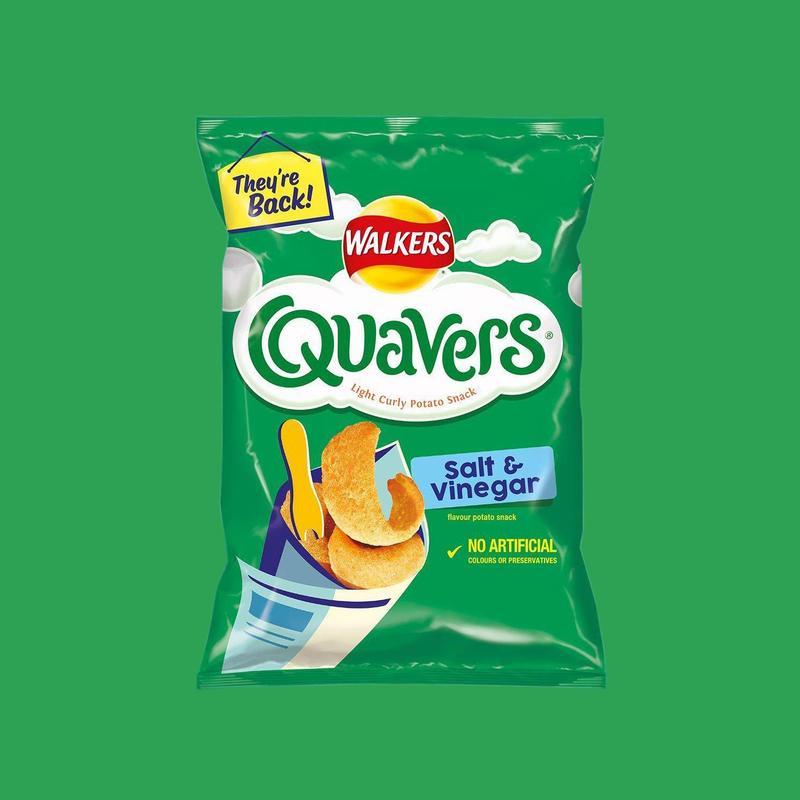 Walkers Quavers 45g Prawn Cocktail/Salt & Vinegar are 3 For £1 @ Farmfoods Ashton U Lyne