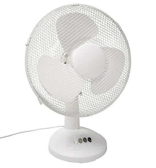 "Desk Fan 12"" (White) FT-30EII - £10 (free click & collect) @ B&Q"