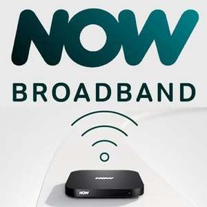 NOW Broadband Super Fibre (63Mbps) and Anytime Calls - £23 monthly 12 month contract + £5 delivery fee - £281 total @ NOW