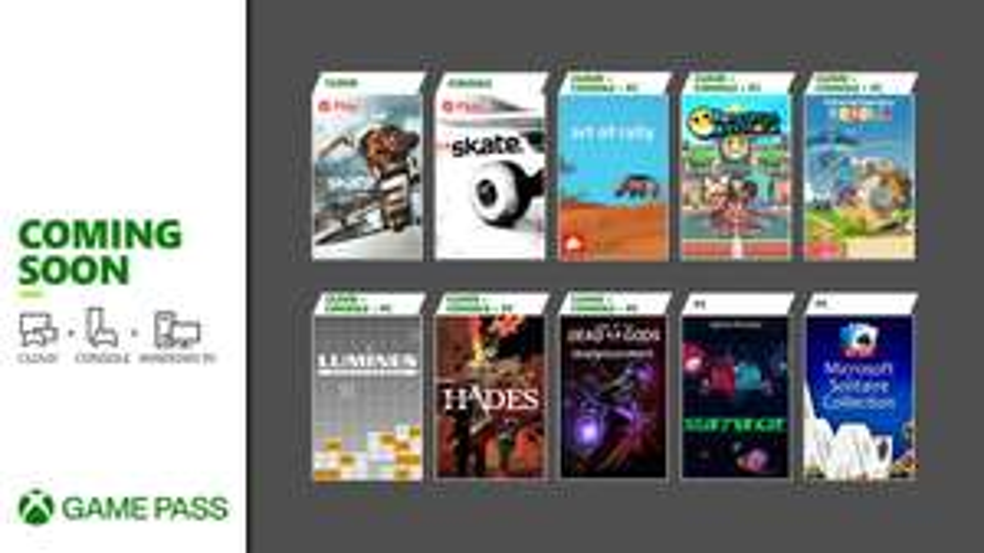 Xbox Game Pass Additions - Hades, Katamari Damacy Reroll, Skate 3, Lumines + Dirt 4, Dirt Rally, Dirt Rally 2.0, Grid, F1 2020 via EA Play