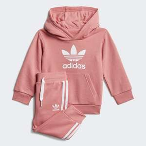 adidas Originals Trefoil Hoodie tracksuit set in Hazy Pink (baby & toddler) for £17.15 delivered (Creators Club) using code @ adidas